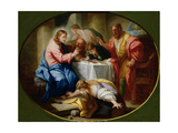 Christ and Mary Magdalene at the Banquet of Simon the Pharisee Giclee Print by Benedetto Luti