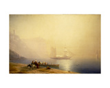 Morning on the Shore of the Sea, Sudak, 1856 Giclee Print by Ivan Konstantinovich Aivazovsky
