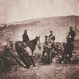 Officers and Men of the 8th (The King's Royal Irish) Light Dragoons (Hussars) from an Album of 52… Photographic Print by Roger Fenton