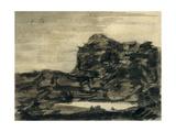 The Lake at the Foot of the Crag ジクレープリント : アレクサンダー・カズンズ