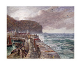 Clovelly Pier, 1897 Giclee Print by Charles Napier Hemy
