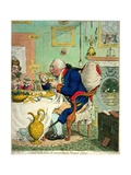 Temperance Enjoying a Frugal Meal, Published by Hannah Humphrey, 1792 Giclee Print by James Gillray