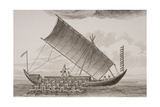 A Caracore from Borneo, Engraved by Thomas Milton (1743-1827) 1820 Giclee Print by William Anderson