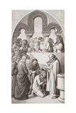 The Baptism of King Ethelbert (C.552-616) of Kent by St. Augustine at Canterbury in 597, from… Giclee Print by William Dyce