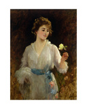 The Yellow Rose Giclee Print by Sir Samuel Luke Fildes