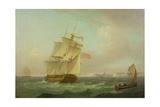 British Man-O'-War Giclee Print by Thomas Whitcombe