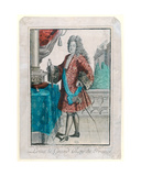 Louis Xiv (1638-1715) King of France, 1695 Giclee Print by Jean Baptiste Bonnart