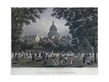 Jardin Du Luxembourg, Engraved by Frederic Martens (1809-75) 1832 Giclee Print by Frederic Martens