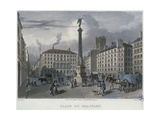 The Place Du Chatelet, Paris, Engraved by Frederic Martens (1809-75) 1832 Giclee Print by Carlo Gilio