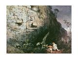 Head of Itzam Na, Izamal, Yucatan, Mexico, 1844 Giclee Print by Frederick Catherwood