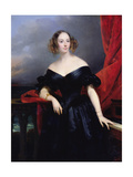 Madame Rampal, Comtesse De Grigneuseville Giclee Print by Claude-Marie Dubufe