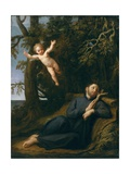 St. Francis in the Desert Giclee Print by Marco Antonio Franceschini