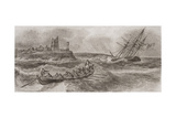 Life Boat Rowing to the Rescue of a Foundering Sailing Ship, Engraved by Thomas Milton… Giclee Print by William Anderson