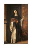 St. Paula or an Abbess, 1655 Giclee Print by Juan de Valdes Leal