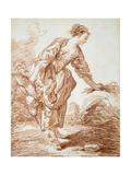 La Jardiniere Reproduction procédé giclée par Jean-Honore Fragonard