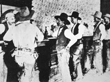 Cowboys Drinking in a Texas Saloon, C.1890 Photographic Print