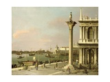 View of the Entrance to the Grand Canal from the Piazzetta Giclee Print by  Canaletto