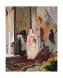 Entering the Harem, 1870s Giclee Print by Georges Clairin