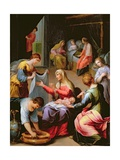 The Birth of the Virgin Giclee Print by Alessandro di Agostino Casolani