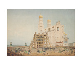 Raising of the Tsar-Bell in the Moscow Kremlin in 1836, 1839 Giclee Print by Vasili Semenovich Sadovnikov