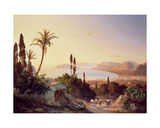 Gulf of Palermo, Looking Towards Cape Zafferano, C.1845 Giclee Print by Carl Wilhelm Goetzloff