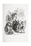 Nicholas Starts for Yorkshire, Illustration from 'Nicholas Nickleby' by Charles Dickens (1812-70)… Giclee Print by Hablot Knight Browne