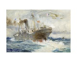 Engaging the Enemy Giclee Print by Charles William Wyllie