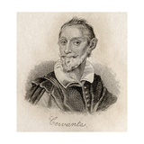 Miguel Saavedra De Cervantes Giclee Print by J.W. Cook