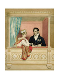 Princess Charlotte Augusta of Wales (1796-1817) and Prince Leopold of Saxe Cobourg Gotha… Giclee Print by George Dawe