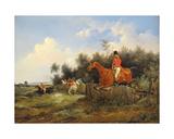 Hunting Scene Giclee Print by Bernard Edouard Swebach