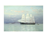 An Outward Bound Ship under Full Sail, 1882 Giclee Print by Eduardo de Martino