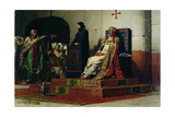 Pope Formosus (816-896) and Pope Stephen VI in 897 Giclee Print by Jean Paul Laurens