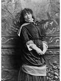 Sarah Bernhardt (1844-1923) on Her First Tour in the United States, 1880 Photographic Print by Napoleon Sarony