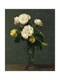 Roses in a Champagne Flute, 1873 Giclee Print by Henri Fantin-Latour