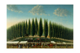 Salem Common on Training Day, 1808 Giclee Print by George Ropes