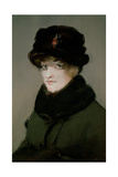 Mery Laurent (1849-1900) Wearing a Fur-Collared Cardigan, 1882 Giclee Print by Edouard Manet