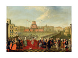 Fete at Naples on the Occasion of the Marriage of King Ferdinand I (1751-1825) to the Archduchess… Giclee Print by Pietro Fabris