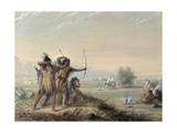 Snake Indians Testing Bows, 1837 Giclee Print by Alfred Jacob Miller