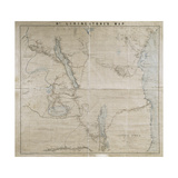 Karte von a Portion of Central Afrika by Livingstone, from His Own Surveys, Drawings and… Giclée-Druck von David Livingstone