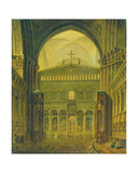Inner View of the Temple in Jerusalem, 1821 Giclee Print by Maksim Nikiforovich Vorobiev