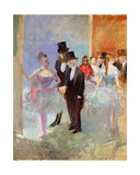 The Wings of the Opera (In the Foyer) C.1887 Giclee Print by Jean Louis Forain