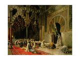 Interior of the Mosque at Cordoba, C.1880 Giclée-tryk af Edwin Lord Weeks