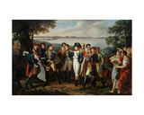 Napoleon (1769-1821) Orders the River Danube to Be Bridged at Ebersdorf in Order to Reach the… Giclee Print by Lodovico Venuti