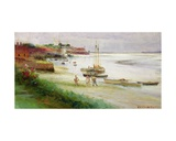 Family Disembarking at Low Water Giclee Print by William Lionel Wyllie