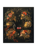 Still Life of Autumnal Fruits, 1664 Giclee Print by Ottmar the Elder Elliger
