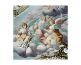 Detail of Angel Musicians from the Vault of the Choir Giclee Print by Camillo Procaccini