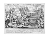British Resentment Or, the French Fairly Coopt at Louisbourg, Published 25th September, 1755 Giclee Print
