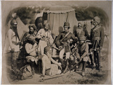 A Group of Sikh Officers and Men, 1858 Reproduction photographique
