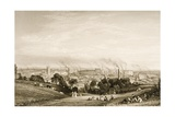General View of Stockport, Lancashire Showing Cotton Mills, Published by J.C. Varrall… Giclee Print by George Pickering