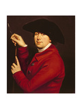 Self Portrait Holding a Mahlstick and Brush Giclee Print by Francis Hayman